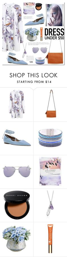 """Dress Under $50"" by mada-malureanu ❤ liked on Polyvore featuring Michael Kors, Le Specs, Nikki Strange, Bobbi Brown Cosmetics, Allstate Floral, Clarins and Dressunder50"