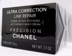 Chanel Precision Ultra Correction Line Repair Anti-Wrinkle Day Cream Chanel, Anti Wrinkle, Cards Against Humanity, Cream, Ebay, Creme Caramel