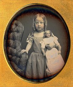 1 6 Dag Beautiful Young Girl with A Large Doll | eBay