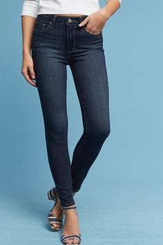 Slide View: 3: Paige Hoxton High-Rise Skinny Ankle Jeans