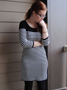 Striped Sweater Dress - outfit post { full blog post on stripedflats.com }