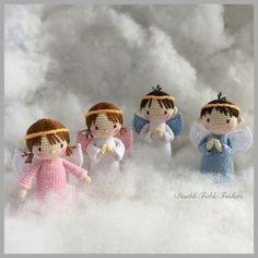 Patrón gratis angelitos Amigurumis