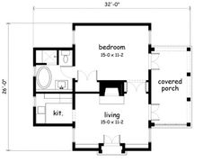 Small house plan for outside guest house. Make that a Murphy bed ...