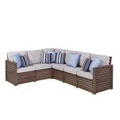 """Home Styles Barnside 80.5 x 104.5 Corner """"L"""" Sofa with Accent Pillows"""