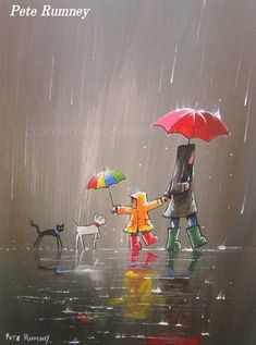 Quotes Discover Cute rain art by Pete Rumney Street Art Busy Street Rain Street Rain Art Umbrella Art Umbrella Painting Walking In The Rain Acrylic Art Dog Art Art And Illustration, Rain Art, Umbrella Art, Umbrella Painting, Inspiration Art, Acrylic Art, Cute Art, Painting & Drawing, Rain Painting