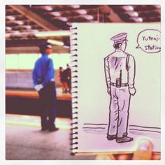 Speed Sketched People of Tokyo by Hama-House