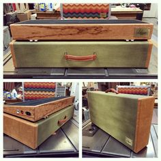 Here's a unique pedalboard rig we shipped out last week. Cherry board with leather capped zombie tweed case. Handmade in the USA by Salvage Custom.