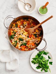 Chickpea & Cauliflower Minestrone (vegan, gf)