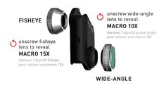 Olloclip 4-in-1 Lens  Discover the Top 5 Accessories for your Smartphone!  https://www.wellbots.com/blog/the-top-5-accessories-for-your-smartphone/