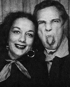 Marlon Brando in a photobooth with his then friend and soon to be wife Movita Castaneda, who he married in 1960 and divorced two years later.