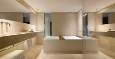 bathroom by piero lissoni: conservatorium hotel, amsterdam