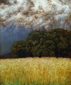 "skinks: "" Hans Thoma, Calm Before the Storm "" Modern Landscape Design, Traditional Landscape, Landscape Art, Landscape Paintings, Landscapes, Paintings I Love, Painting Prints, Art Prints, Pierre Auguste Renoir"