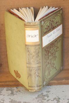 Vintage Book Guest Book