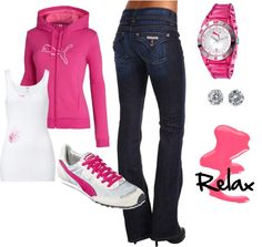 """""""puma relax"""" by angie-n-joey on Polyvore"""