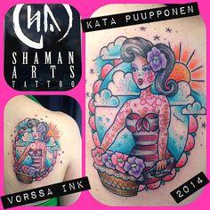 https://www.facebook.com/VorssaInk, http://tattoosbykata.blogspot.fi, #tattoo #tatuointi #katapuupponen #vorssaink #forssa #finland #traditionaltattoo #suomi #oldschool #pin up