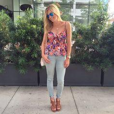 floral summer top
