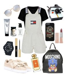 """""""Weekend Getaway"""" by melaluuh on Polyvore featuring Tommy Hilfiger, Moschino, Puma, Polaroid, Ray-Ban, G-Shock, Bobbi Brown Cosmetics, Jo Malone, Yves Saint Laurent and Maybelline"""