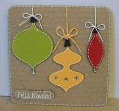 Feliz Navidad Ornaments Card from Scrappin' Navy Wife  http://scrappinnavywife.blogspot.com/2010/12/cardwinnerand-my-friends-giveaway.html