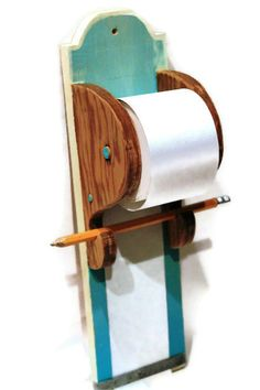 Hanging Note Paper holder.  Mom had one like this and it worked great.