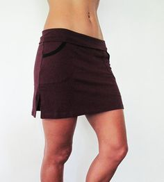 Skort   midthigh length cotton lycra skirt with by Kayayogawear, $48.75