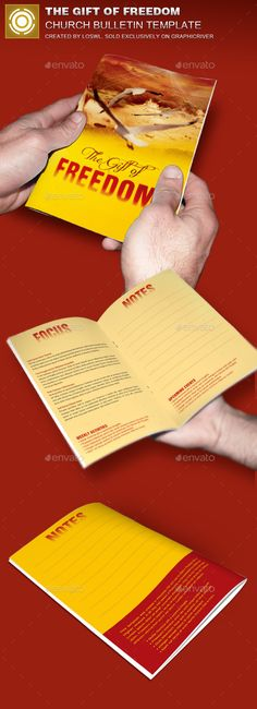 The Gift of Freedom Church Bulletin Template