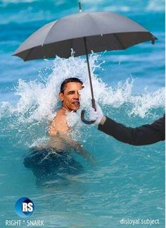 *What a loser*    >>I know right!! The photoshop dude sucks at his job. Seriously if you believe this pic is not doctored you're just stupid &/or hate Obama