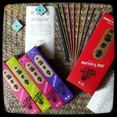 This brand is my favourite incense with its high quality and elegant fragrances. Morning Star Incense was created in the 1960s in Japan. If you're into this and it is available in your country I recommend it, give it a try #incense #fragrance #zen #sandalwood #pine #musk #patchouli #jasmine #rose #cedarwood #amber #vanilla #greentea #lavender #cinnamon #lotus #mimosa