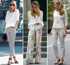 Inspirações de como usar calças estampadas até nos looks mais formais de trabalho!
