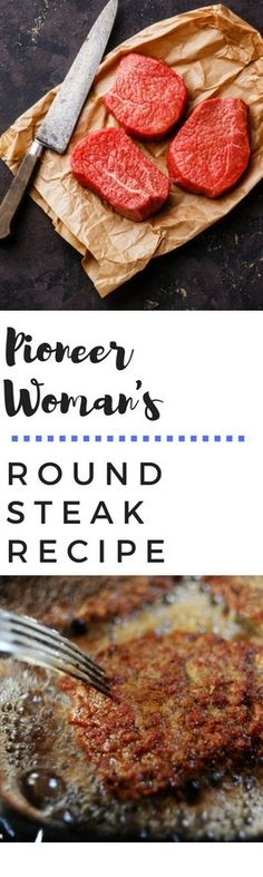 Pioneer Woman's Round Steak Recipe. Perfect Recipe to use with Western's Smokehouse Round Steak! Pioneer Woman's Round Steak Recipe. Perfect Recipe to use with Western's Smokehouse Round Steak! The Pioneer Woman, Pioneer Women, Beef Dishes, Food Dishes, Main Dishes, Steaks, Steak Recipes, Cooking Recipes, Recipes With Round Steak