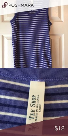 Victoria Secret brand striped tank top size L Cute royal blue tank with stripes. In excellent condition. Smoke free and dog friendly home. Victoria's Secret Tops Tank Tops