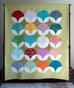 Quiltachusetts Modern Quilts Handmade and Designed by Heather Black Geometric Circle, Geometric Designs, Circle Quilts, Gift Of Time, Fall Projects, Heather Black, Pearl Pendant, Machine Quilting, Textile Art