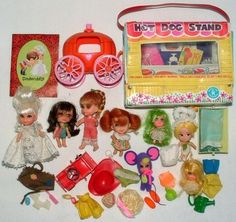 little kiddles dolls from the 1960s   1960s mattel Little Kiddles   1960's Dolls and toys