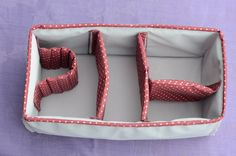 Finished Camera Bag Insert by FroggedDesigns, via Flickr