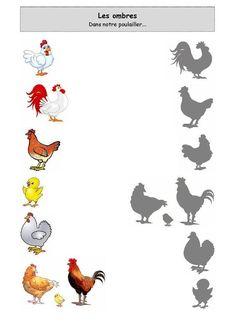 In unserem Hühnerstall . Kindergarten Worksheets, Worksheets For Kids, Farm Theme, Preschool Printables, Bible Crafts, Kids Corner, Preschool Activities, Teaching Kids, Farm Animals