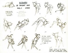Bambi- done by Ollie Johnston, one of my favorite animators