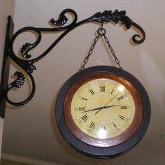 Train Station Clock Train Station Clock, Country Houses, Clocks, Kitchen Ideas, Decorating Ideas, English, Watches, Wall, Outdoor