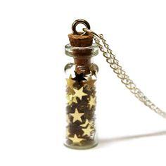 Bottled Gold Stars Necklace