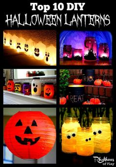 Top 10 DIY Halloween Lanterns pin. This article contains links to some of the most amazing DIY Halloween lanterns. Discover the perfect tutorial for you.