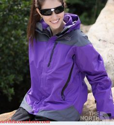Womens North Face Gore Tex 2 in 1 SoftShell Jackets Purple