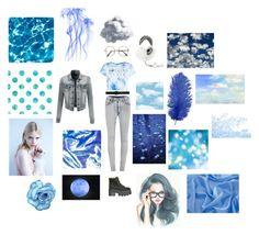 """Denim Blue"" by coopdogxo on Polyvore featuring LE3NO, Cheap Monday, Jeffrey Campbell, Dolce&Gabbana, Lauren Ralph Lauren, denim, Blue and glitter"