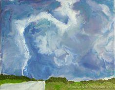 Tornado - Dallas, TX Encaustic on Masonite 8 in. x 10 in. © 2006 Marilyn Fenn