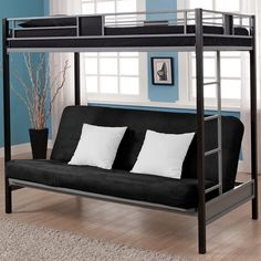 Double Loft Bed With Sofa Underneath