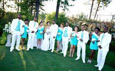 17 Trendy Wedding Themes Summer Teal Tiffany Blue - Sites new Blue Suit Wedding, Beige Wedding, Blue Wedding Dresses, Trendy Wedding, Blue Bridal, Wedding Outfits, Bridesmaid Dresses, Tiffany Blue Weddings, Tiffany Wedding