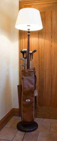 Custom Vintage Golf Bag Lamp #golfbags