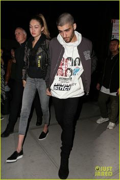 Zayn Malik Spends Saturday Night with Gigi Hadid: Photo #947393. Zayn Malik steps out of his New York City hotel while hand in hand with girlfriend Gigi Hadid on Saturday night (March 26).    The cute couple is together in the…