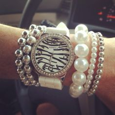 zebra print and pearls!!