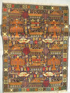For just a moment, it appears to belike alltheotherhand-woven rugs that have been crafted for centuriesinvarious parts of the Middle East, displayed proudly in Western living rooms and under dining tables. The pleasing colours and style are the same, but suddenly you realise:those aren't flow