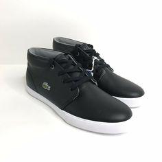 3d60dabfe Lacoste Asparta Shoes NEW Men US 10.5 EU 44 Black Sneakers