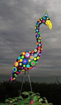 junk yard ideas   Button Flamingo: Handcrafted garden art, ...   Garden Junk Ideas