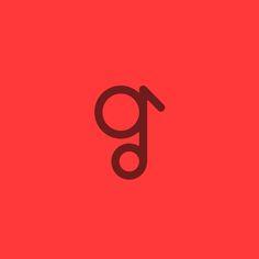 """The g music Logo Design Letter """"g"""" + Music Note"""